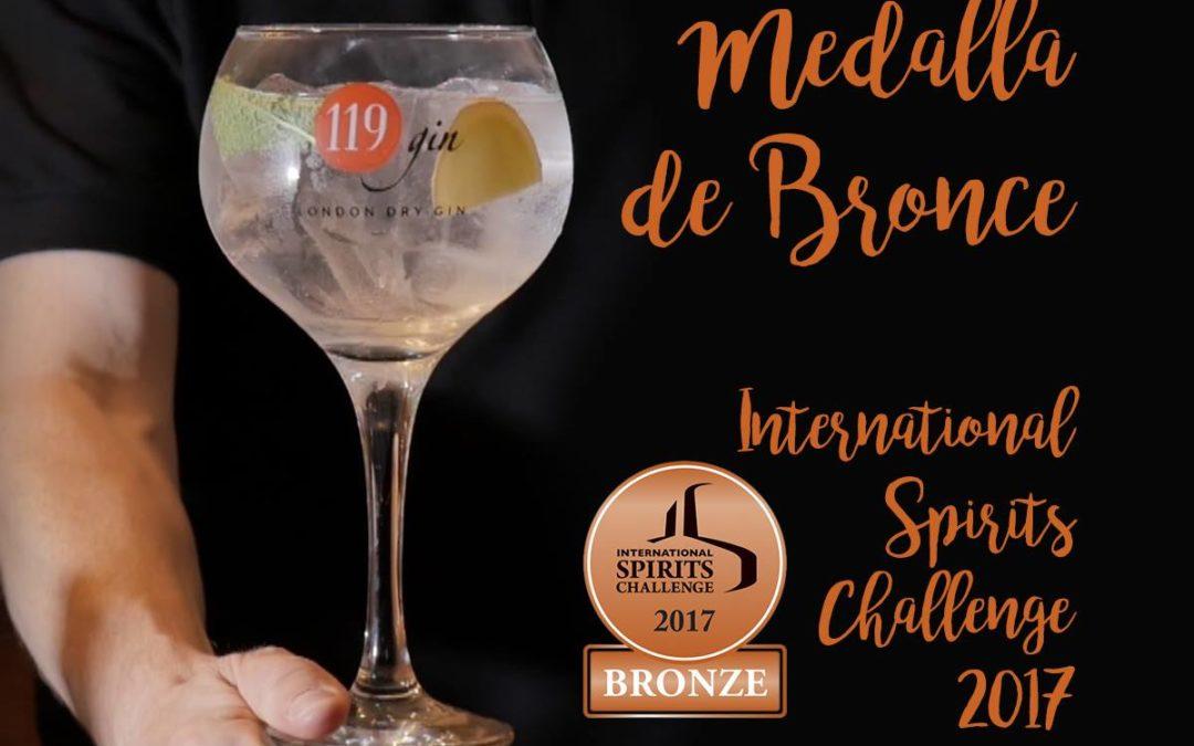 Medalla de Bronce para 119 Gin