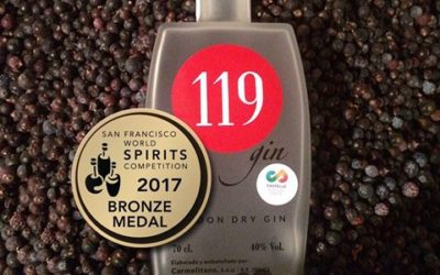 Medalla de Bronce para 119 Gin en el San Francisco World Spirits Competition
